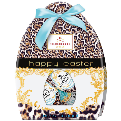 Praline Happy Easter Eggs Milk Chocolate Niederegger Nougat 85g